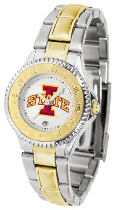 Iowa State Cyclones Competitor Ladies Watch with Two-Tone Band - Iowa State Cyclones Ladies Watch