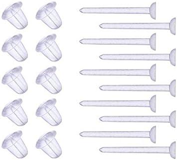 Small clear plastic stud earrings posts pin backs Blank Craft DIY Supplies lots