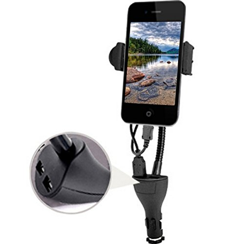 Price comparison product image Choicelife Universal Car Mount Holder with Dual USB Charger for Smartphone /Car Charger