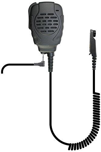 PRYMEBLU SPM-2201 Trooper II Waterproof & Noise Canceling Trooper II Spm-2200 Series - Waterproof Remote Speaker Microphone, Black
