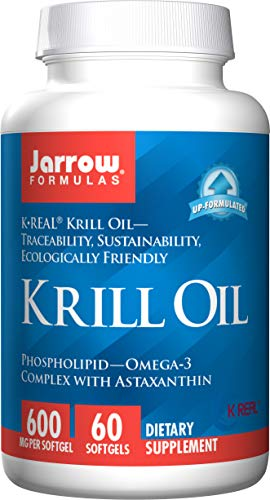 Jarrow Formulas Krill Oil, Supports Brain, Memory, Energy, Cardiovascular Health, 600 Mg, 60 Softgels (Best Research Chemical Suppliers)