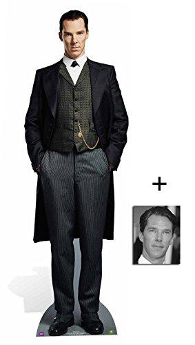 Fan Pack - Sherlock Holmes (Benedict Cumberbatch) Lifesize and Mini Cardboard Cutout / Standee / Standup - Includes 8x10 Star Photo