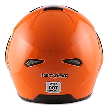 1Storm Motorcycle Street Bike Modular//Flip up Dual Visor//Sun Shield Full Face Helmet Carbon Fiber Black Power Gear Motorsports