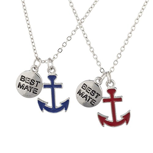 Lux Accessories Silvertone Best Friends Forever BFF Nautical BFF Necklace 2Pc