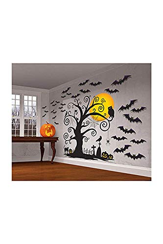 Halloween Party Invites Online (Amscan Halloween Cemetery Scene Setters 65'' x 32'' Paper & Plastic Decorating)