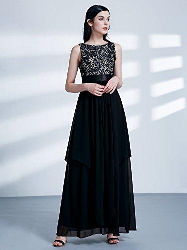 para Mujer HE08217RD12 Ever Negro Vestido Pretty HwBx4qAP