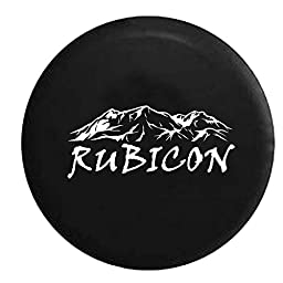 Rubicon Rocky Mountain Edition 4x4 Jeep Spare Tire Cover OEM Vinyl Black 28-29 in