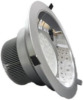 Guli Downlight LED con Luz Cálida 3000-3500 K, 18 W, Plata
