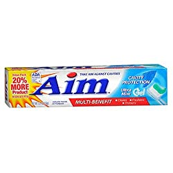AIM Cavity Protection Gel Toothpaste, Mint - 6 oz - 2 pk