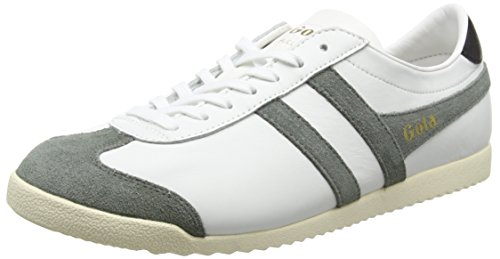 Gola Bullet Leather - Zapatillas Hombre Blanco - White (White/Grey)