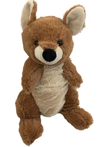 Hug Fun Brown & Tan Kangaroo Plush 11 inch Stuffed Animal Pal -  Hug Fun International