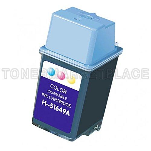 INKUTEN © Hewlett Packard HP 49 Tri-Color Compatible HP 51649A Inkjet Cartridge