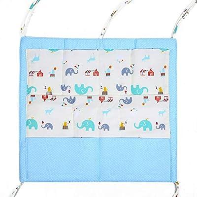 Fushkong Multi-layer Cotton Cartoon Multi-function Bed Baby Diaper Storage Bag