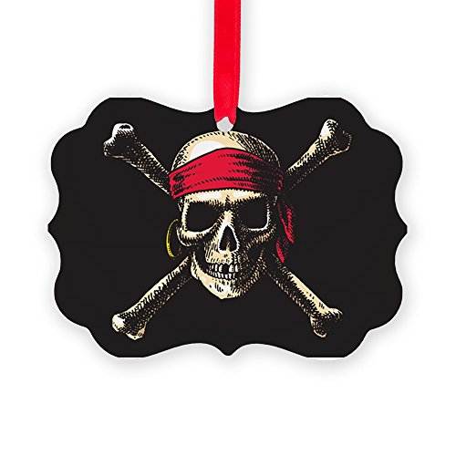Picture Ornament Pirate Skull Crossbones