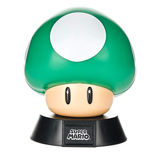 Paladone Green 1Up Mushroom Light - Nintendo Super Mario Icon Light