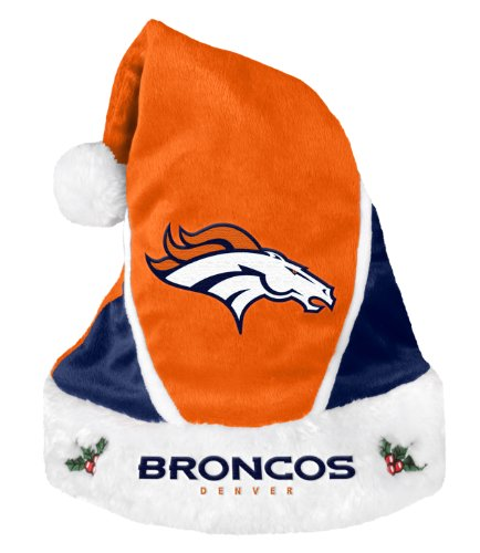 NFL Denver Broncos 2014 Colorblock Santa Hat