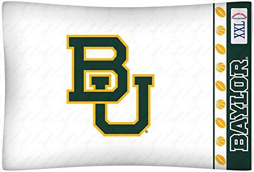 NCAA Baylor Bears Micro Fiber Pillow Cases, Standard, - Bears Baylor Pillow