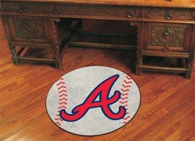 Braves Rug - FANMATS 6429 MLB Atlanta Braves Baseball Rug