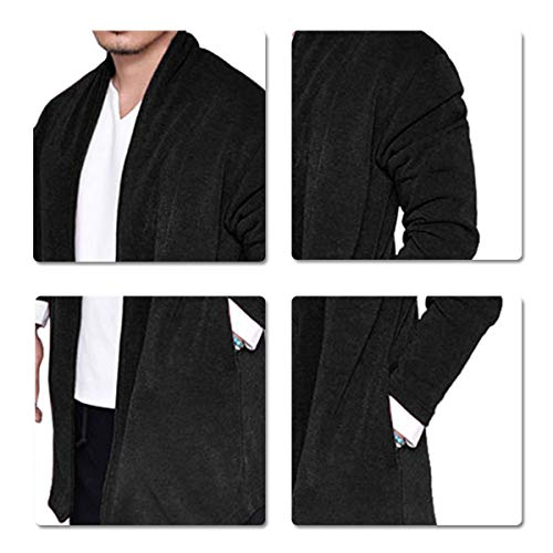 Mode Chaud Un Et Casual Bouton Manteu Chic Avec Hiver Noir Homme Automne Confortable Sliktaa RqYzAHxY