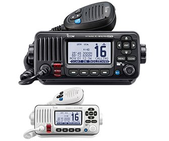 Icom IC-M424G 21 Fixed Mount VHF Marine Transcei Ver with GPS Receiver - Black by Icom