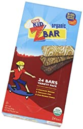 Clif Kid Z Bar Variety Pack, Chocolate Chip, Choc Brownie, Iced Oatmeal Cookie, 24 Count