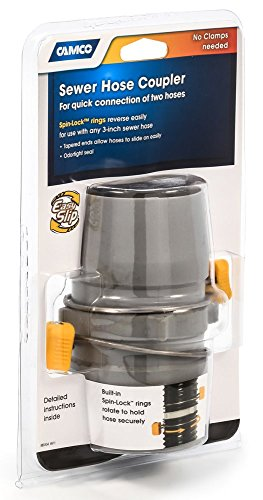 Camco 39163 Easy Slip® RV Sewer Hose Coupler