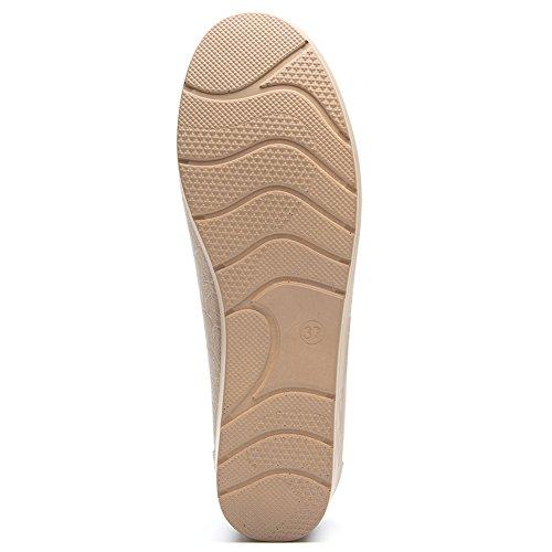 la con Cestfini Donna Khaki2 per Camminare Migliore Flat per Loafers Scarpe Pelle Le Scarpe Scelta Nero Tutte Stagioni per Mocassini Platform Zeppa Comode Donna Xxp6avcqzw