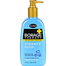 ShiKai Borage Therapy-Childrens Lotion, Fragrance Free, 8-Ounce