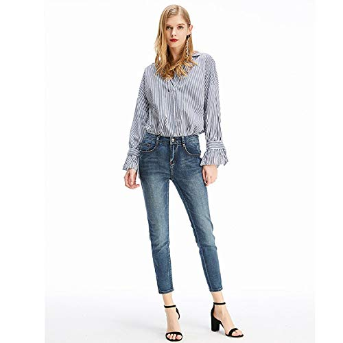 para Azul Mujer XL Pantalones MVGUIHZPO Jeans L Vaquero wIqTnEC