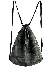 Ayliss Drawstring Backpack 3D Digital Printed Cinch Sack Gym Bag Oxford Dance String Bag for Women/Men (Camouflage)