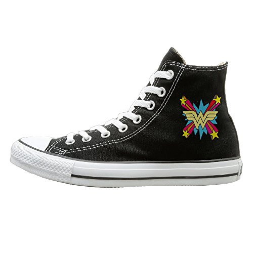 [Laotan Men & Women Colorful Wonder Logo High Top Sneakers Canvas Shoes Fashion Sneakers Shoes Classic 40] (Best Figure Skating Costumes)