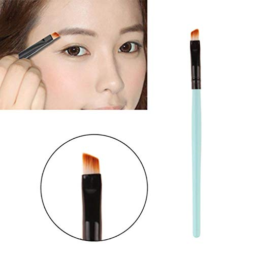DICPOLIA Beauty Eyebrow Brush Premium Quality Angled Eye Brow Brush and Spoolie Brush Eyeliner Makeup Brush (Light Blue)