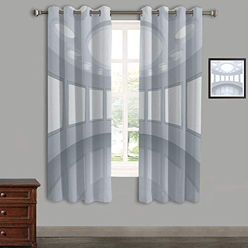 (AngelSept Polyester Curtains Back Tab and Rings top Outdoor Curtains 2 Panels,84