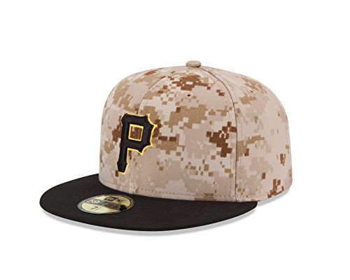 Camo 59fifty Fitted Cap - MLB Pittsburgh Pirates Men's Authentic Collection On Field 59FIFTY Fitted Cap, 778, Camo