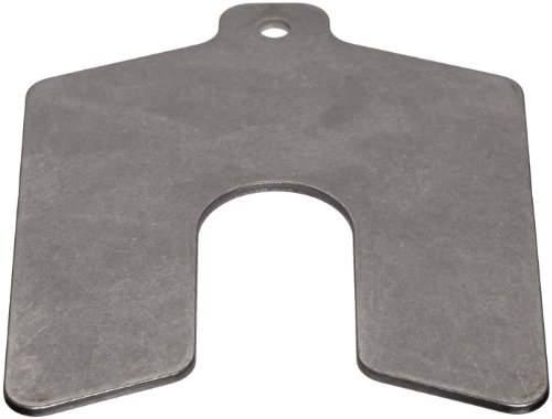 Stainless Steel Slotted Shim, Unpolished (Mill) Finish, 0.050'' Thickness, 3'' Width, 3'' Length (Pack of 5) by Small Parts