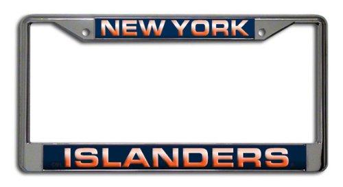 (Rico Industries NHL New York Islanders Laser Cut Inlaid Standard Chrome License Plate)