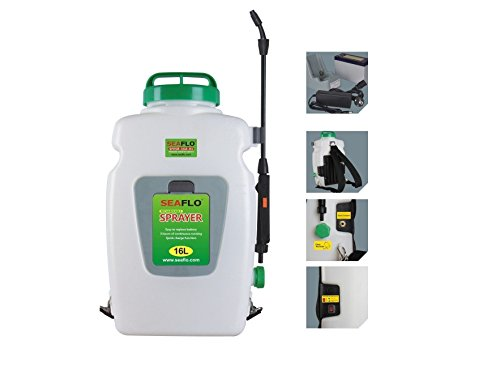 Knapsack Agricultural Electric Sprayer SeaFlo Model - 16 liter with 12-volt rechargeable battery - BC-3865 by Five Oceans