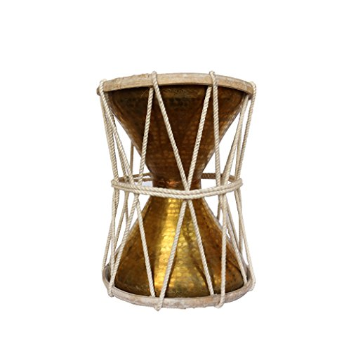 De Kulture Works Handheld Brass Damroo Traditional Indian Folk Musical Percussion Instrument Large Drum Ideal For Valentine Gift Ideas Easter Decorations Good Friday Gifts