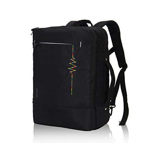 Hynes Eagle Minimalist City Backpack for Up to 15.6 inch Laptop Flash Black