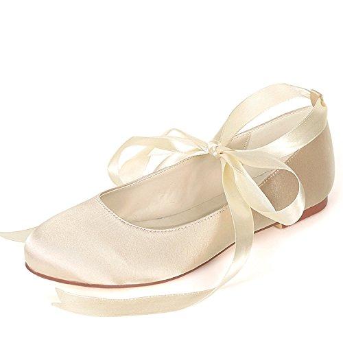 Me Plataforma Gusta Closed Boda Honor Mujer 0 Ribbon Heels 6cm Low Champagne De Zapatos Damas Heel Moda Toe Eleoulck InCwXqpYfx
