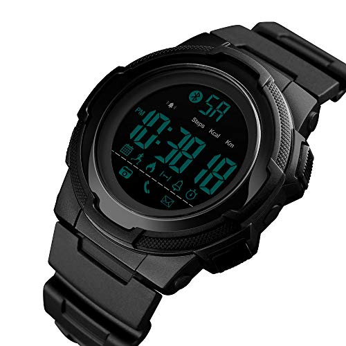 Men's Digital Sport Watch,Discountsday Waterproof Outdoor Sport Watch Military Multifunction Casual Watch with Alarm Date Sport Analog Digital LED Backlight Wrist Watch (BK)
