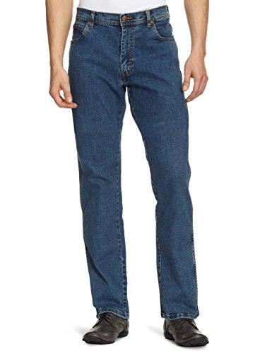 Mild darkstone Uomo pacco Stonewash Texas Wrangler Stretch Blue Da Jeans 7 Blu AnBvq