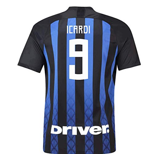 2018-19 Inter Milan Home Football Soccer T-Shirt Jersey (Mauro Icardi 9)