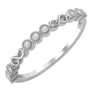 0.36 ct Ladies Round Cut Diamond Anniversary Band in 14 kt White Gold