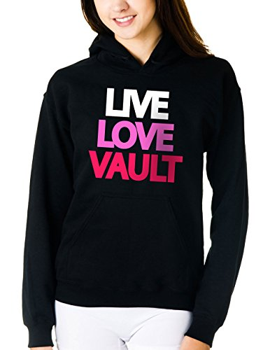 Live Love Vault Hoodie Sweatshirt (Medium, Black)
