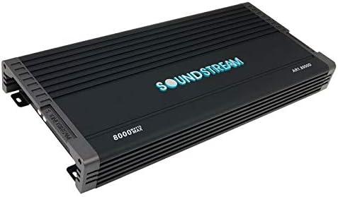 Soundstream AR1.8000D Arachnid Series 8000W Class D Monoblock Amplifier,BLACK