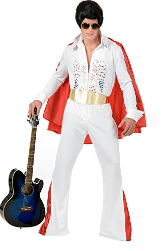 Charades Adult Rhinestone Rock Star Costume with Cape, X-Large