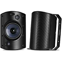 Polk Audio Atrium 8 SDI Flagship Outdoor Speaker (Single, Black) | Powerful Bass & Broad Sound Coverage | Withstands Extreme Weather & Temperature