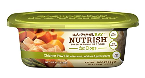 Price comparison product image Rachael Ray Nutrish Natural Wet Dog Food,  Chicken Paw Pie,  Grain Free,  8 oz tub,  Pack of 8