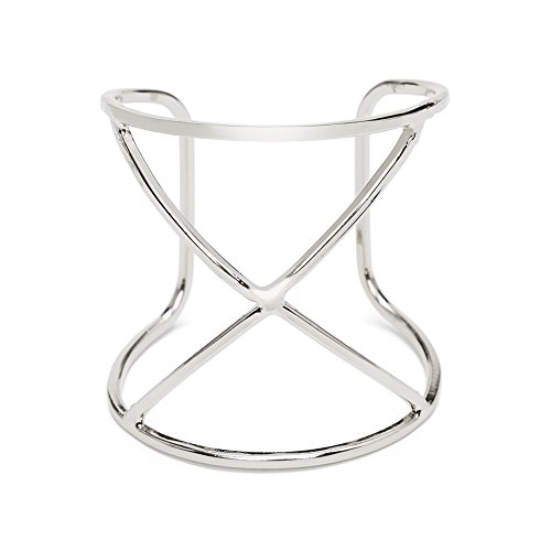 ViViCaSa Metal Fashion Wire Cuff Bangle Bracelet for Girls Women, Silver (Cuff Wire)